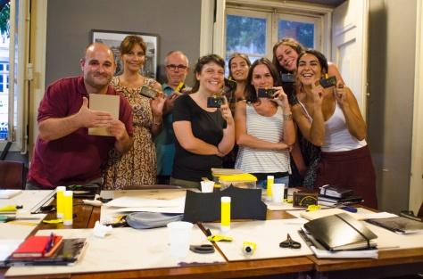 Foto de grupo da equipa dos voluntários do projeto Este Espaço Que Habito.